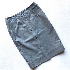 Joe's Jeans Gray Pencil Skirt, Genuine Leather, S